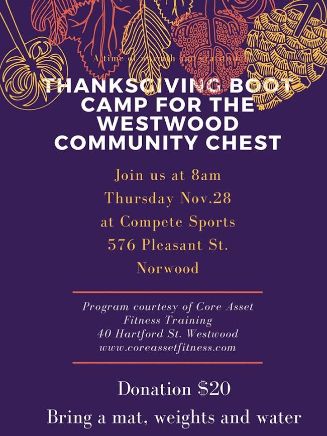 thanksgiving bootcamp flyer